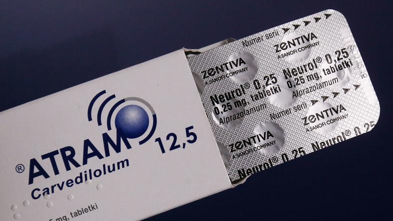 Lek kardiologiczny Atram, z jednej z wycofywanych serii