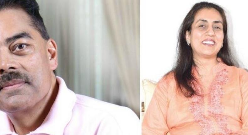 Vimal and wife Manda