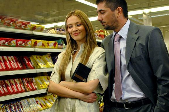 Sa Vojinom Ćetkovićem u filmu