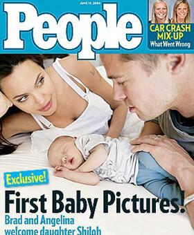 """Brangelina z malutką Shiloh na okładce """"People"""" wartą 4,1 mln dolarów"""