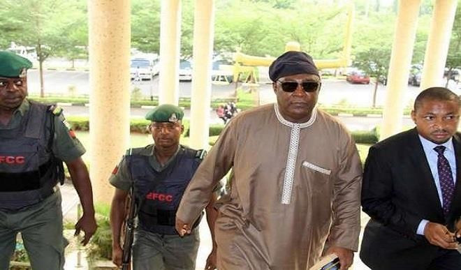Ex-Chief of Defence Staff, Alex Badeh appears at the Federal High Court Abuja for alleged diversion of N3.9 billion