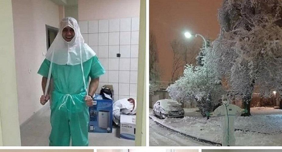 Leśnicy - wolontariusze w szpitalach