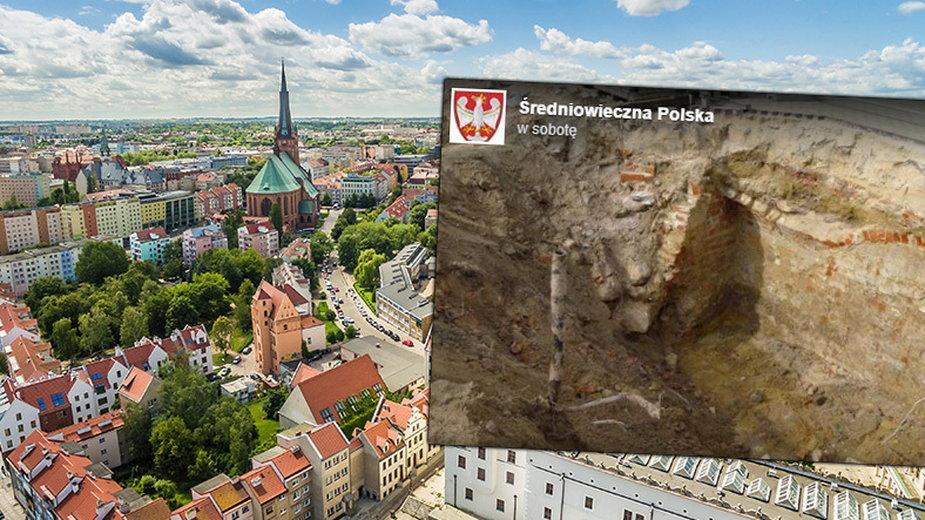 W centrum szczecina znaleziono fragment średniowiecznej świątyni