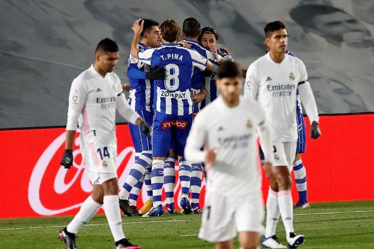 Slavlje igrača Alavesa protiv Reala