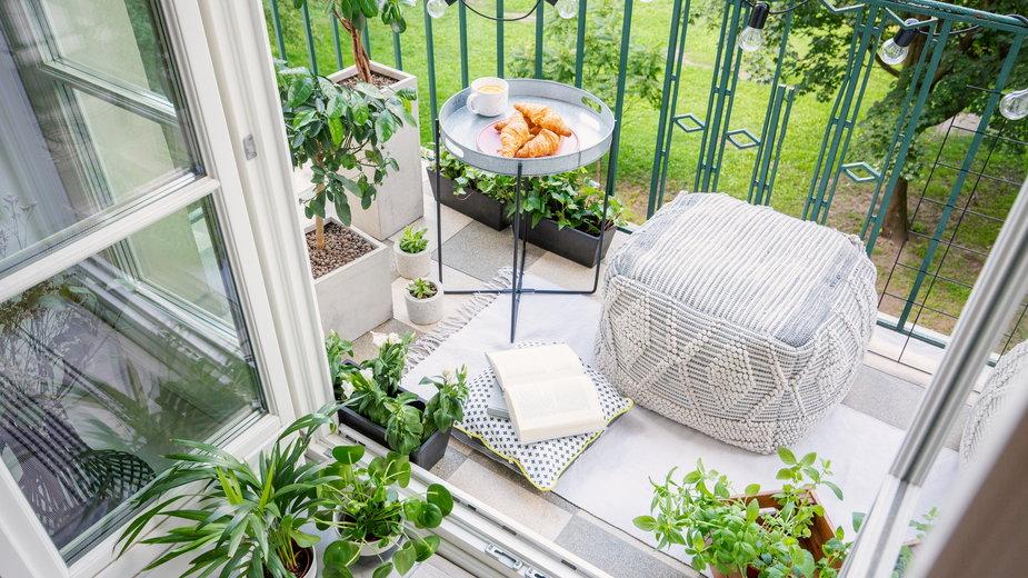 Balkon na wiosnę