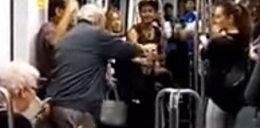 Zamieszanie w metrze. Co zrobili staruszkowie?