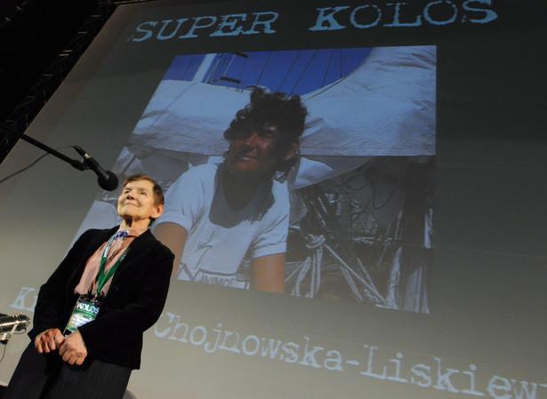 Nie żyje Krystyna Chojnowska - Liskiewicz. Tu na zdj. z 2009 r podczas uroczystej gali wręczenia Kolosów –najbardziej prestiżowych polskich nagród za podróżnicze dokonania roku.