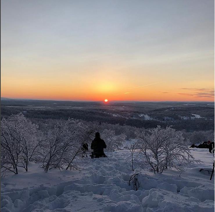 Murmansk, sunce