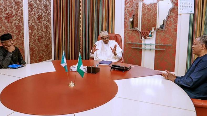 Buhari, Osinbajo, Onyeama meet over xenophobic attacks against Nigerians in South Africa  [Twitter/@BashirAhmaad]