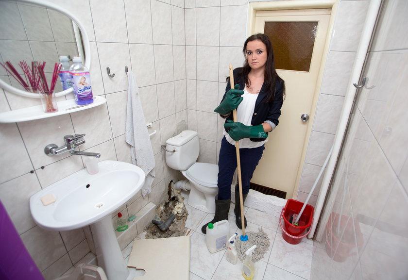 Katowice. Justyna Godecka ma w mieszkaniu szmabo
