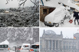 Kolaž sneg Evropa
