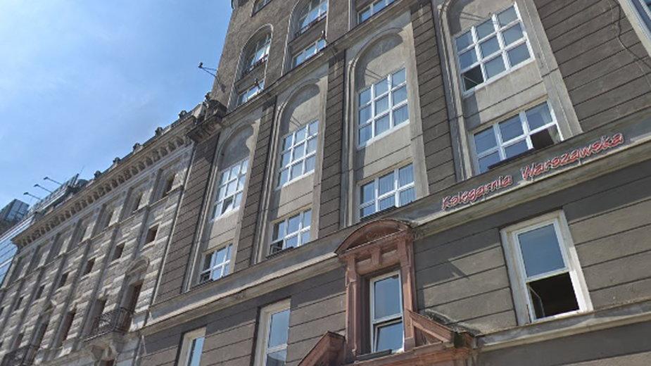 Zabytkowy budynek PAST przy ul Zielnej w Warszawie