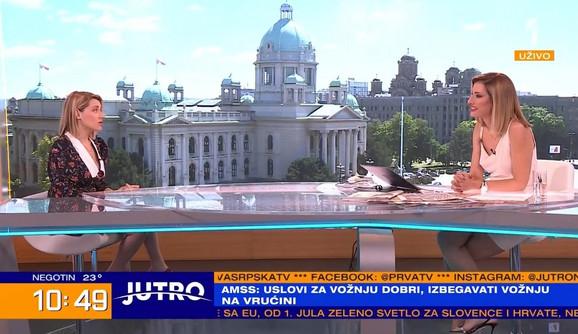 Anđelka Prpić u jutarnjem programu kod Jovane Joksimović