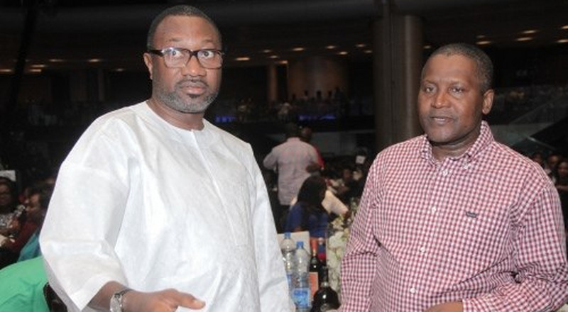 Otedola, other celebrities celebrate Dangote on his 62nd birthday