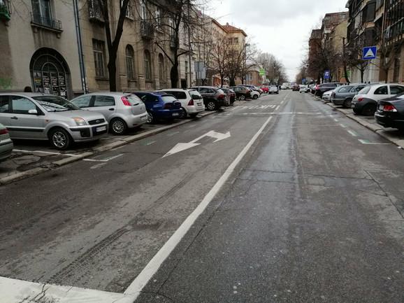 Resavska ulica pre rekonstrukcije