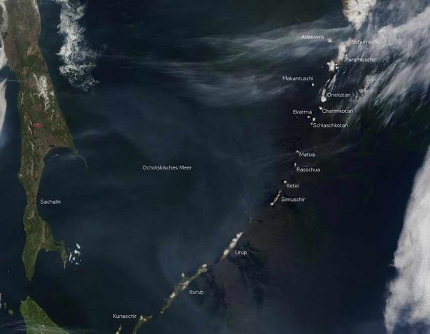 Wyspy Kurylskie, Fot. MODIS Rapid Response Project at NASA/GSFC