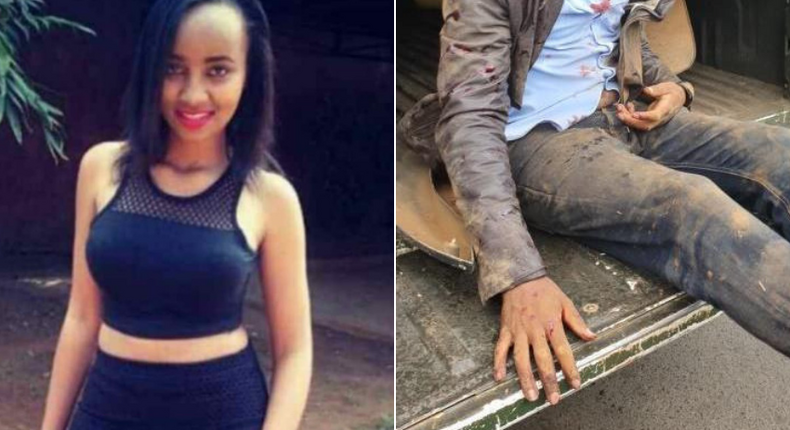 Ivy Wangechi (L) who was murdered at MTRH by Naftali Njahi Kinuthia (R)