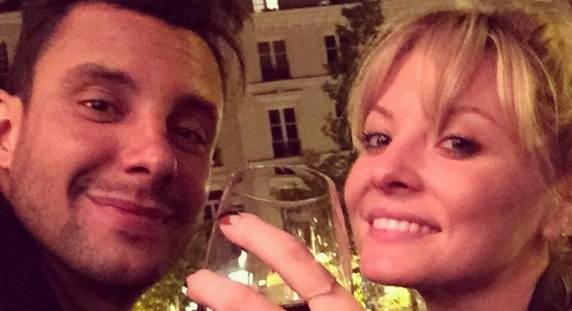 Kaitlin Doubleday and her fiance, Devin Lucien in Paris