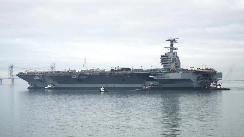 USS Gerald R. Ford (CVN 78) - najpotężniejszy lotniskowiec świata w drodze na testy