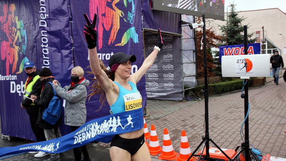 Aleksandra Lisowska. Mistrzyni Polski w maratonie w Dębnie