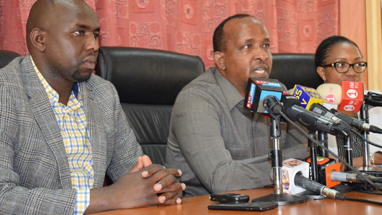 National Assembly Majority Leader Aden Duale and his Senate counterpart Kipchumba Murkomen