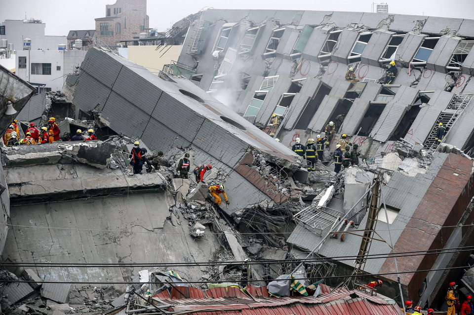 TAIWAN EARTHQUAKE (Strong earthquake kills at least three in Taiwan, several injured)