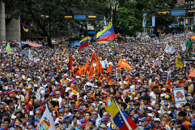 Opozicioni protest u Karakasu u novembru 2019.