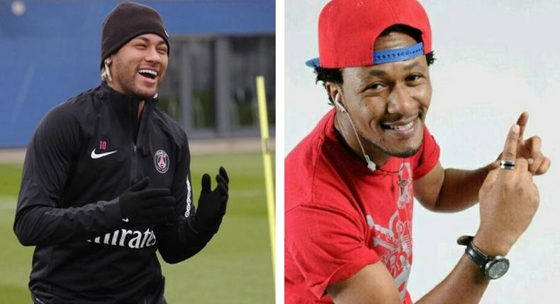 Neymar could be DJ Mo's long lost twin (Instagram)