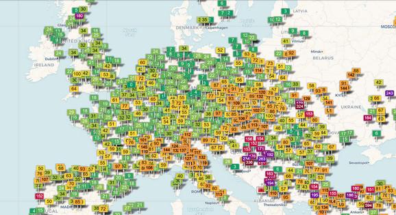 Balkan kao crna tačka Evrope zbog zagađenog vazduha
