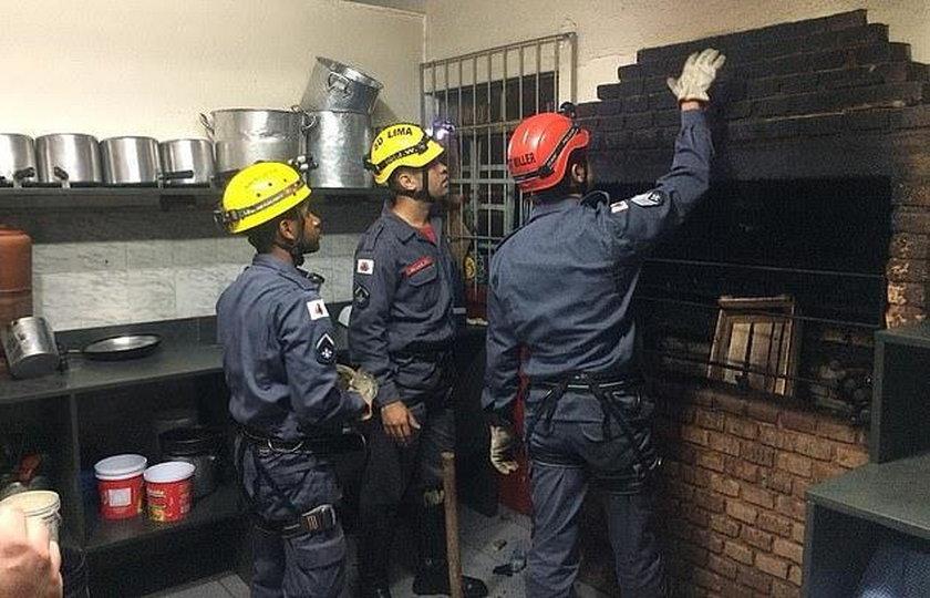 Brazylia: Próbował włamać się do restauracji. Utknął w kominie