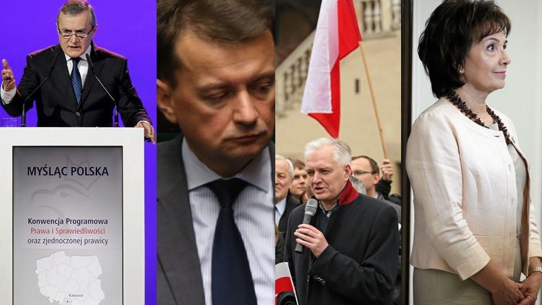 Prof. Piotr Gliński, Mariusz Błaszczak,Jarosław Gowin i Elżbieta Witek. Przed wyborami pojawiały się spekulacje dotyczące obsady resortów w nowym rządzie. Część z nich wciąż się potwierdza, pojawiają się też nowe nazwiska i ... nowe ministerstwa.