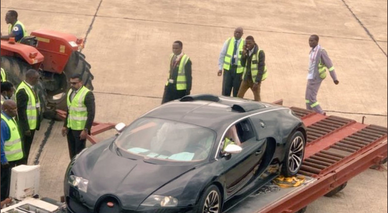 $3m Bugatti Veyron causes a stir in Zambia, authorities jump in and seize the car