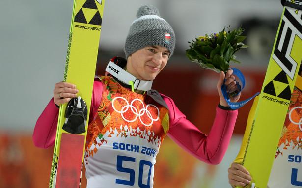 Kamil Stoch cieszy się ze zwycięstwa w Soczi