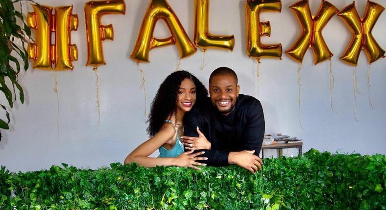 Alexx Ekubo and his fiancee Fancy Acholonu [Instagram/AlexxEkubo]