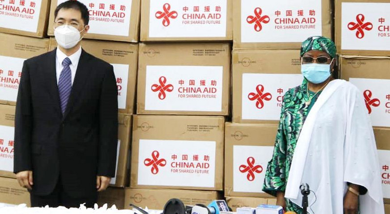 Coronavirus: Aisha Buhari receives medical equipment donated by Chinese First Lady