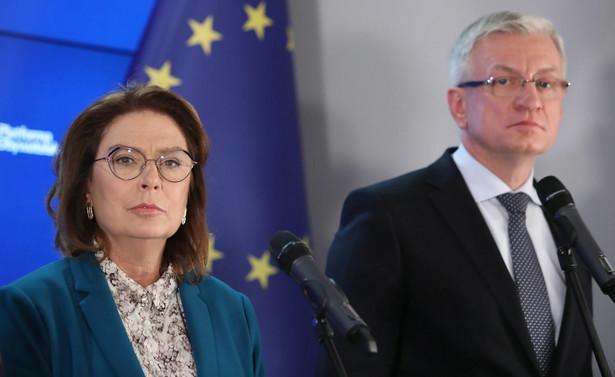 Wicemarszałek Sejmu Małgorzata Kidawa-Błońska i prezydent Poznania Jacek Jaśkowiak