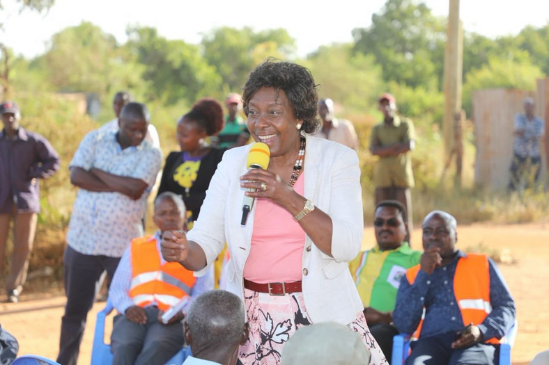Kitui Governor Charity Ngilu during a past public address (Twitter)