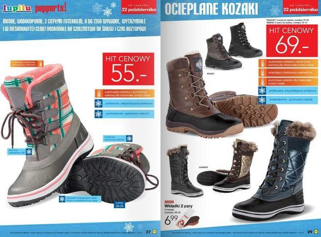 Buty zimowe dziecięce w Lidlu • Promocja • Cena