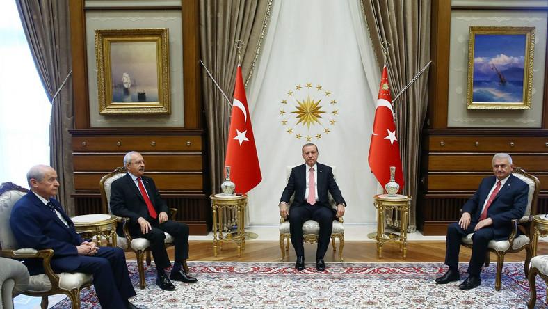 Spotkanie prezydenta Turcji z liderami partii