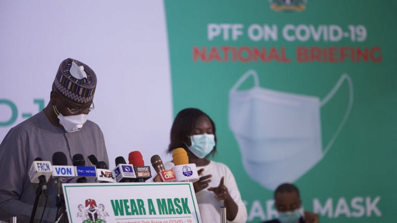 Secretary to the Government of the Federation and  and Chairman, Presidential Task Force (PTF), Boss Mustapha. [NCDC]