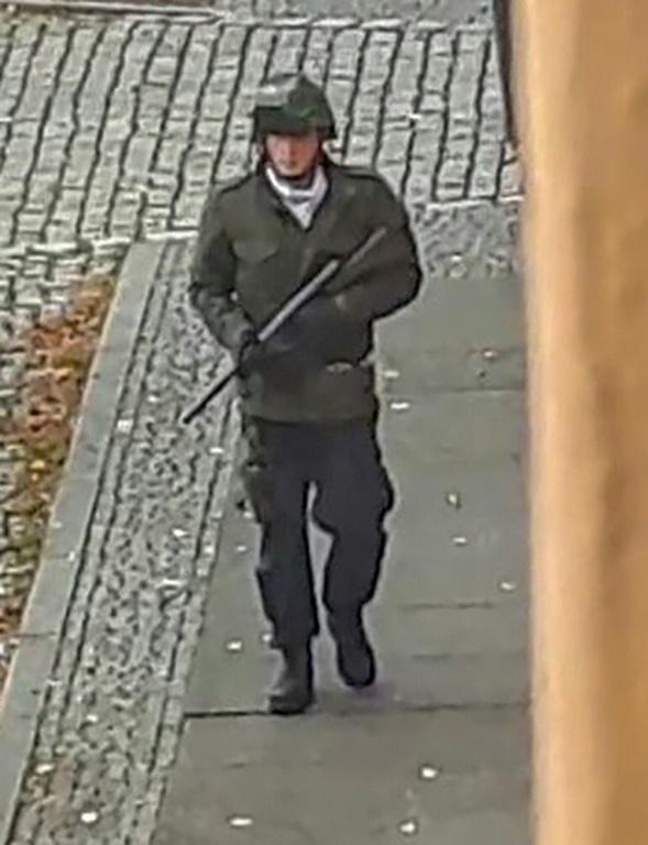 A screenshot from a video by ATV-Studio Halle. Witnesses said a synagogue was among the gunmen's targets as Jewish worshippers marking the holy day of Yom Kippur