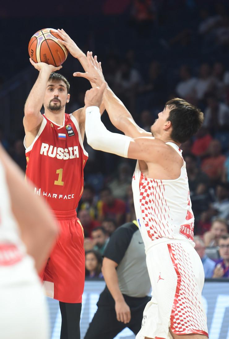 Košarkaška reprezentacija Hrvatske, Košarkaška reprezentacija Rusije