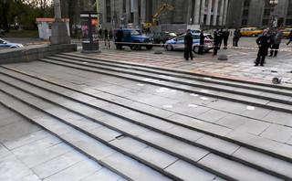 Mężczyzna podpalił się pod PKiN w Warszawie