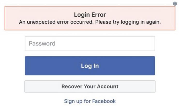 Fejsbuk korisnici imaju probleme sa logovanjem