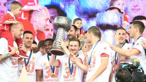 Fudbaleri Crvene zvezde ove sezone osvojili su 30. titulu u istoriji kluba