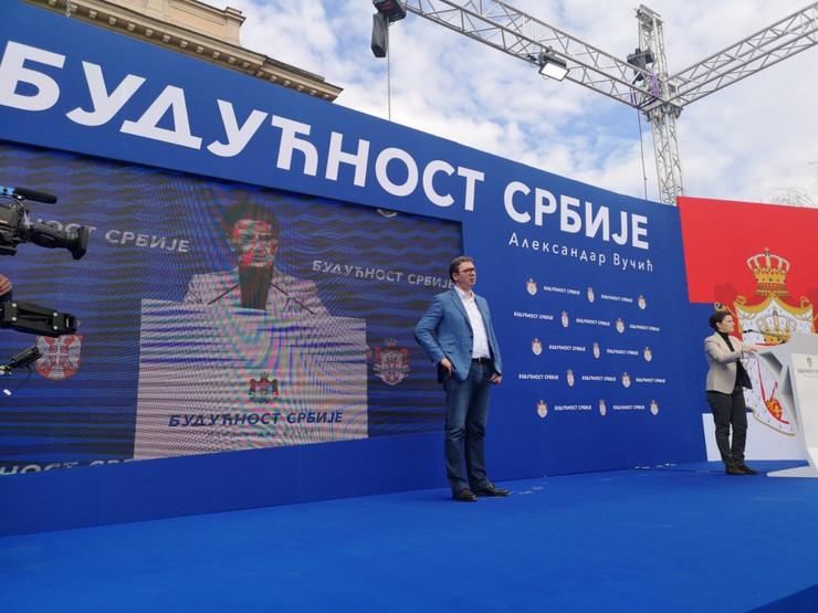 Aleksandar Vučić, Smederevo, Budućnost Srbije, Kampanja