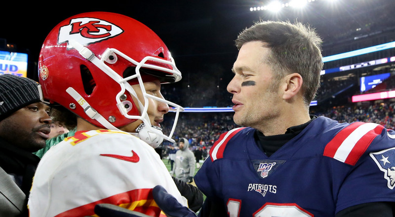 Patrick Mahomes explained how a conversation with Tom Brady after last year's AFC Championship loss helped him lead the Chiefs to the Super Bowl