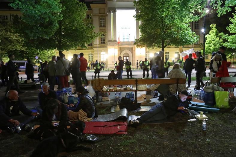 Protest przedsiębiorców w centrum Warszawy