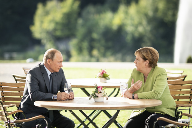 Spotkanie Merkel i Putina w Mesebergu