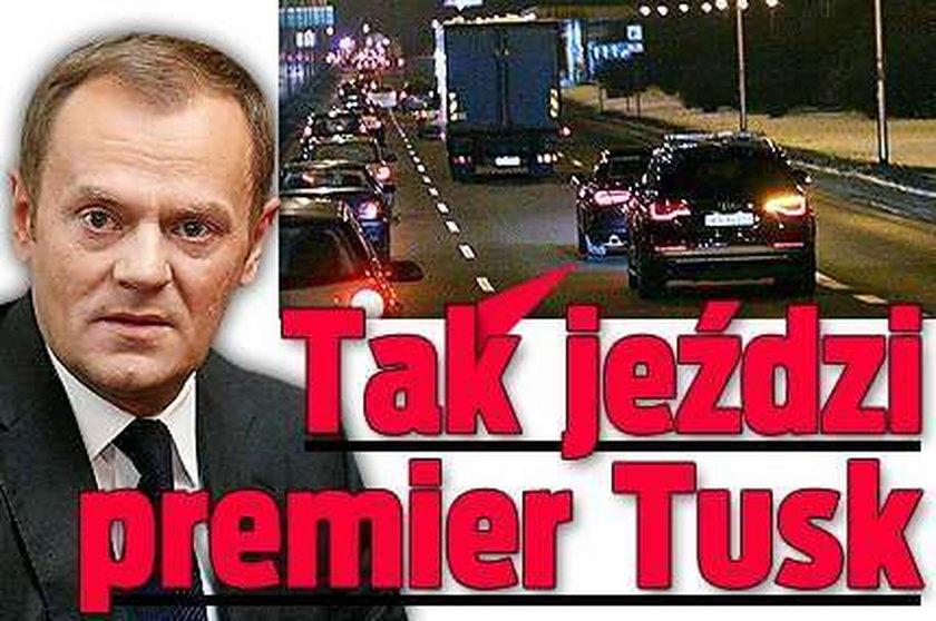 Tak jeździ premier Tusk. Nietypowo jak na polityka